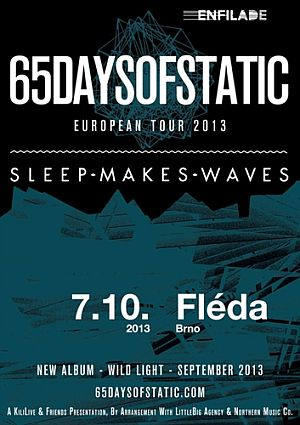 65daysofstatic, sleepmakeswaves