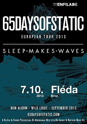 65daysofstatic poster 2013