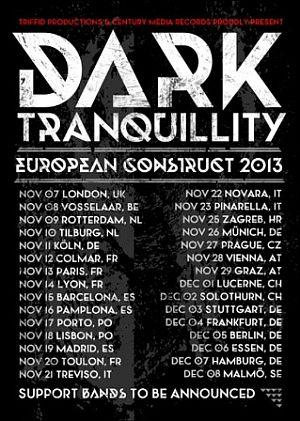 Dark Tranquillity poster 2013