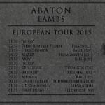 Abaton / Lambs: European Tour 2015