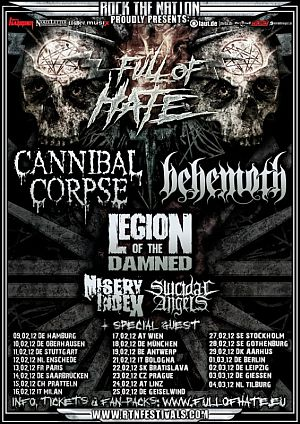 Cannibal Corpse, Behemoth, Legion of the Damned