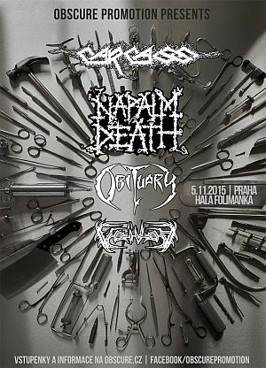 Carcass, Napalm Death, Obituary, Voivod