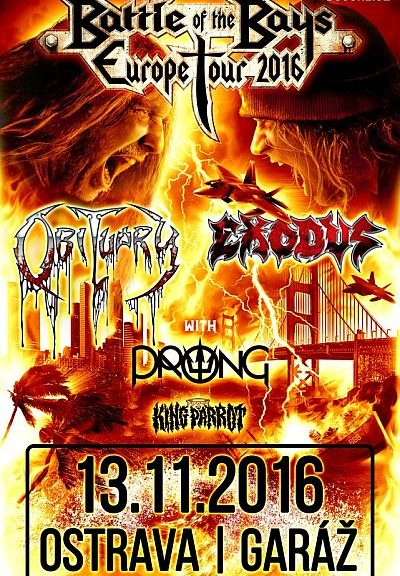 Obituary Exodus Prong poster 2016