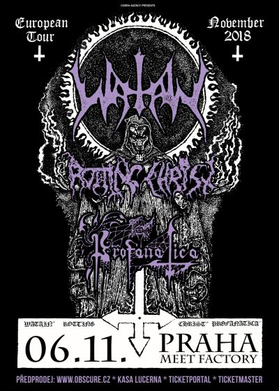 Watain, Rotting Christ a Profanatica