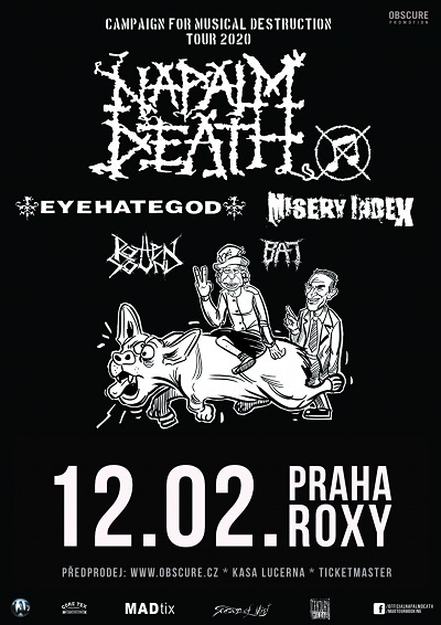 Napalm Death, Eyehategod, Misery Index, Rotten Sound