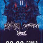Belphegor, Suffocation a Hate v Praze a Košicích